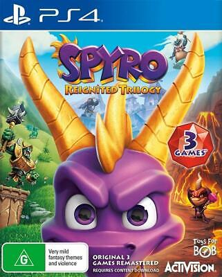 AU98 • Buy Spyro Reignited Trilogy Sony PS4 Family Kids Action Adventure Game Playstation 4