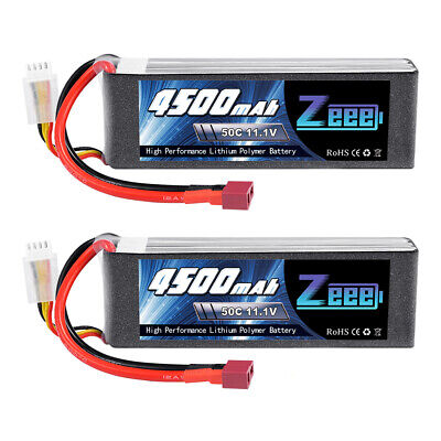 AU85.99 • Buy 2x Zeee 50C 4500mAh 11.1V 3S Deans Lipo Battery For RC Helicopter Airplane Car