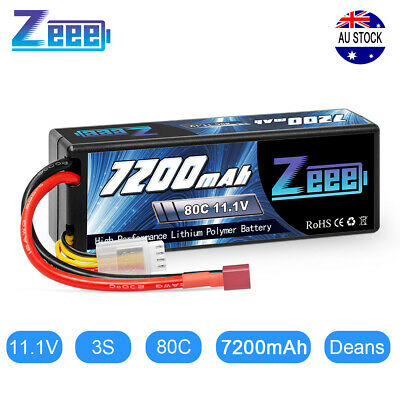 AU80.99 • Buy Zeee 7200mAh 3S 11.1V 80C Deans Plug LiPo Battery Hardcase For RC Car Truck Boat