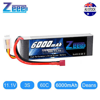 AU55.99 • Buy Zeee 6000mAh 60C 11.1V 3S Deans Plug LiPo Battery For RC Truck Helicopter Car