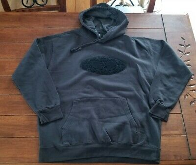 $ CDN120 • Buy New Wu Wear Globe Dark Gray Hoodie Sweater Large Logo Rare Odb Rza Gza Wu Tang