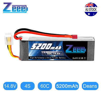AU66.49 • Buy Zeee 4S 5200mAh 60C 14.8V Deans LiPo Battery For RC Helicopter Car Truck Boat