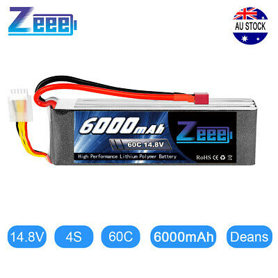 AU77.99 • Buy 6000mAh 60C 14.8V 4S Deans Plug LiPo Battery For RC Helicopter Car Truck Boat