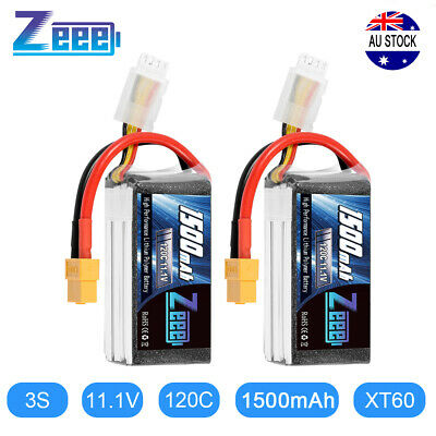AU41.99 • Buy 2PCS Zeee 1500mAh 120C 11.1V 3S XT60 Graphene LiPo Battery For RC FPV Drone Quad
