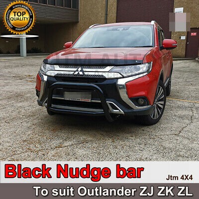 AU274.55 • Buy Black Steel Nudge Bar Grille Guard For Mitsubishi Outlander ZJ ZK 2013-2020