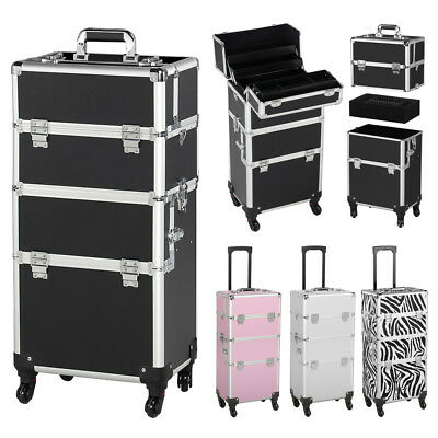 Professional Rolling Makeup Case Cosmetic Train Case Rolling Organizer Trolley  • 73.99$