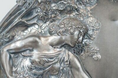 $ CDN976.43 • Buy WMF  Art Nouveau Silver Plated Pewter Plaque Wall