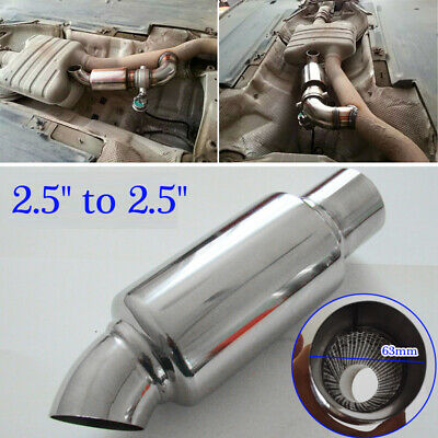 $ CDN28.70 • Buy Car Round Stainless Steel Chrome Exhaust Tail Muffler Tip Pipe Accessories 63mm