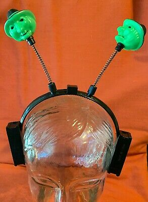 $ CDN14.65 • Buy Rare Vintage Halloween Plastic Green Witch Battery Light Up Headband WORKS