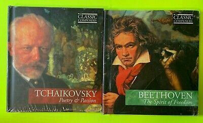 $ CDN22.50 • Buy Lot Of 2 Classic Composers Beethoven & Tchaikovsky New Sealed CDs C/w Booklet