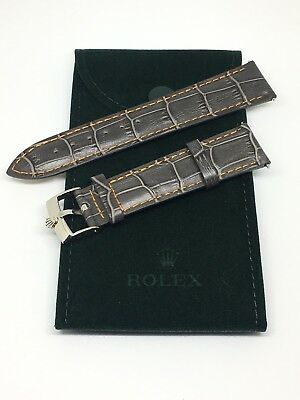 $ CDN167.50 • Buy 20MM ROLEX Watch Gray Band With ROLEX Steel Buckle And Rolex Suede Travel Pouch