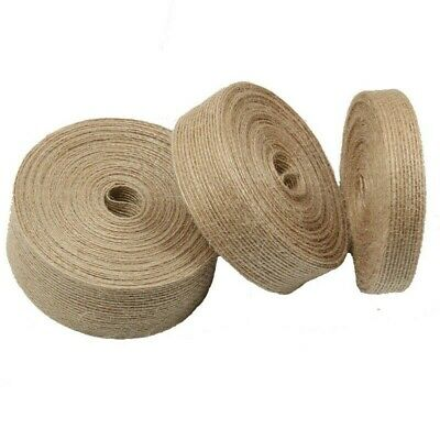 10M Hemp Rope Jute Webbing Tape DIY Craft Straps Burlap Ribbon Sewing Trim • 8.68£