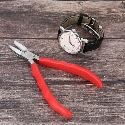 Stainless Steel Jaw Flat Nose Soft Plier Opticians Jewelry DIY Making Craft Tool • 10.43£