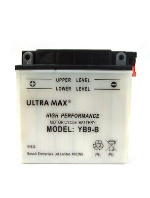 Ultramax YB9-B Replacement Motorcycle Battery For Yamaha RD 200 DX • 21.18£