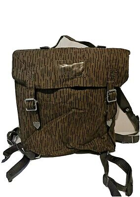 £9.99 • Buy East German Army DDR NVA Bag Backpack With Straps Raindrop Strichtarn Camouflage