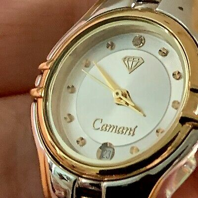 Yves Camani Ladies Watch Bi-colour Band White Face Date Analogue- Value $1089 • 164.92£