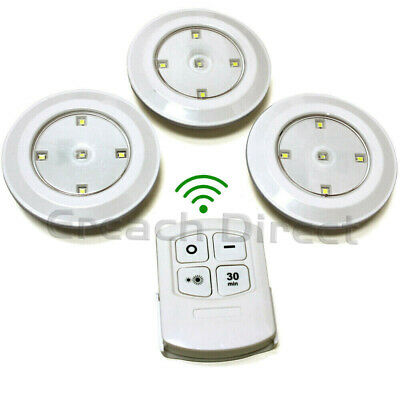 Wireless Remote Control Timer Wall Ceiling LED Lights Cabinet Cupboard Camp Van  • 9.15£