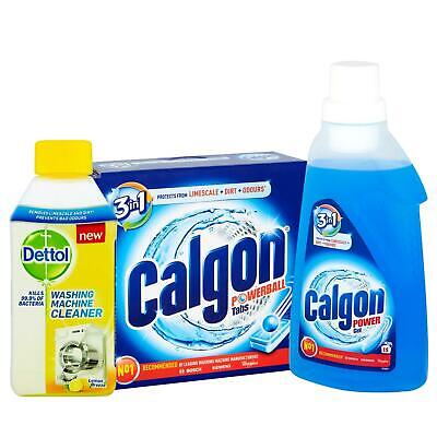 Calgon Gel & Tablets Water Softener With Dettol Washing Machine Cleaner Bundle • 19.99£
