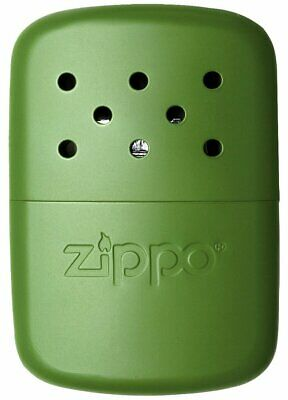 Zippo Refillable Deluxe 12 Hour Moss Green Hand Warmer With Pouch 40468 NEW RARE • 19.99$