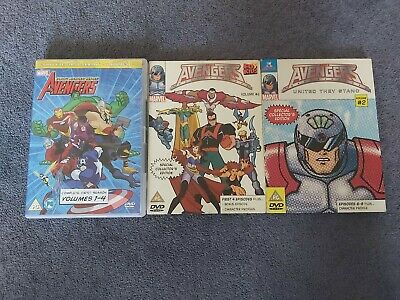 Avengers Earths Mightiest Heroes / Avengers United They Stand DVD • 5£