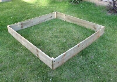 15cm High Raised Bed Wooden Garden Planter, Vegetables, Seeds, Bedding, Herbs • 36£