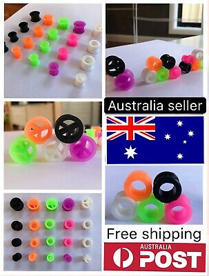 AU4.25 • Buy 1pc 8mm - 12mm Silicone Rubber Stretcher Earring Flesh Tunnel Earplug Expander