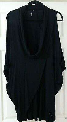 Yong Kim QVC Sleeveless Crossover Cowl Neck Tunic With Side Pockets Size 12  • 28£