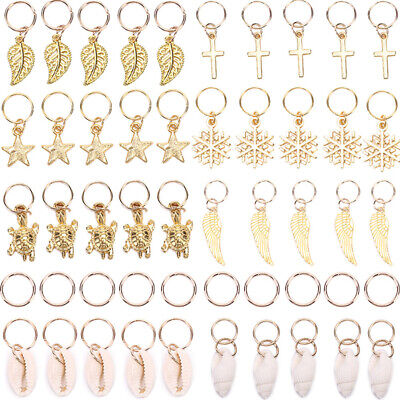 50x Gold Shell Snowflake Pendant Rings Hair Clip Accessories For Braid JewelryHV • 6.02$