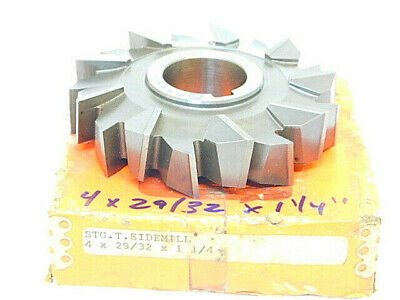 $45 • Buy LIGHT USED MOON HSS STAGGERED TOOTH SIDE MILLING CUTTER 4  X 29/32  X 1-1/4