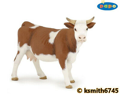 £7.65 • Buy Papo SIMMENTAL COW Solid Plastic Toy Farm Pet Brown Animal NEW 💥