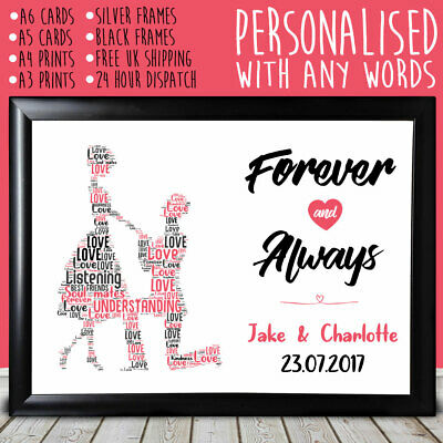 Personalised Proposing Anniversary Special Gift For Him Her 1st 5th 10th 20th • 4.49£