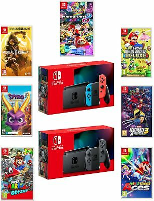 $519.99 • Buy Nintendo Switch Console New 2019 Version With Choice Of Game Bundle