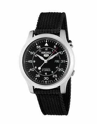 $ CDN172.78 • Buy Seiko 5 SNK809 MILITARY Automatic Day-Date Black Nylon Band Men's Watch SNK809K2