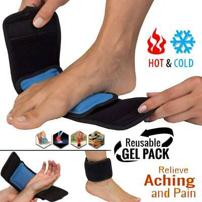 Gel Ice Pack Wrap Hot Cold Therapy Strap For Knee Leg Ankle Arch Pain Relief GW • 8.99£