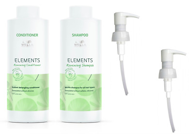 £36.75 • Buy Wella Elements Shampoo 1000ml And Conditioner 1000ml + Pumps FREE P&P