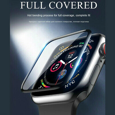 AU4.39 • Buy For Apple Watch 1 2 3 4 38/42/40/44mm Tempered Glass FULL COVER Screen Protector