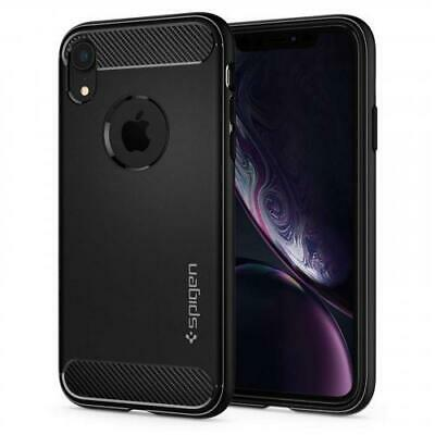 AU36.76 • Buy Spigen IPhone XR (6.1 ) Rugged Armor Case, Matte Black,Carbon Fiber Design,Ultim