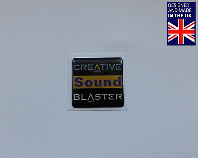 Creative Sound Blaster 25 X 25mm 1  Domed PC Case Badge Logo Decal Live! Audigy • 3.75£