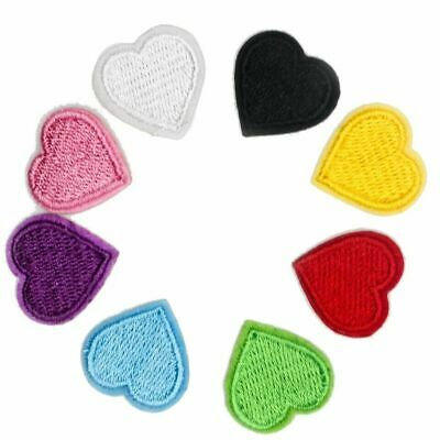 Heart Love Embroidered Logo Patch Badge Iron On / Sew On Fancy Dress Pink Red • 1.49£