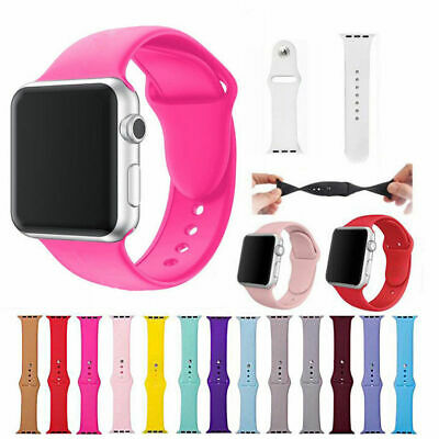 $ CDN1.30 • Buy Replacement Silicone Wrist Bracelet Sport Band Strap For Apple Watch 42mm 38mm