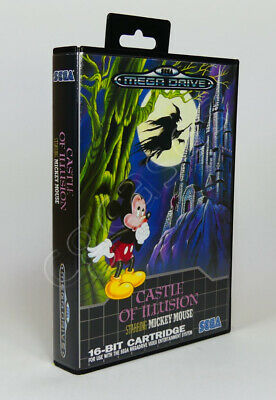 AU15 • Buy SEGA Mega Drive SMD - Game CASE Box - Castle Of Illusion Starring Mickey Mouse