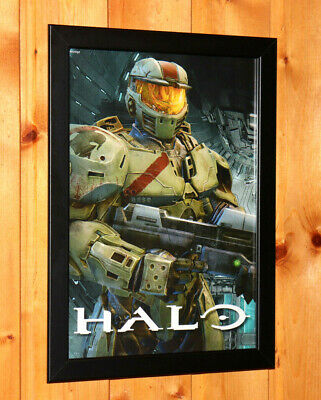 £29.25 • Buy Halo 2, 3, 4 Video Game Rare Small Poster / Old Ad Page Framed Xbox Xbox Live