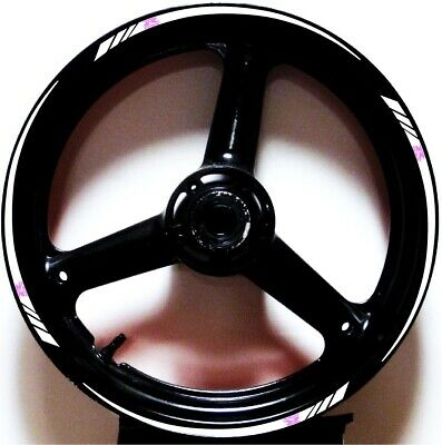 $17.98 • Buy White Pink Gp Style Custom Rim Stripes Wheel Decals Tape Stickers Gsx-r All