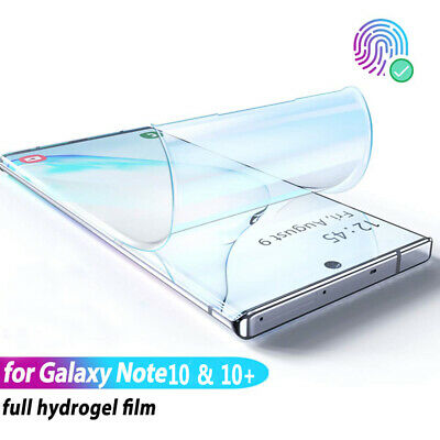$ CDN4.99 • Buy For Samsung Galaxy Note 8 9 10 Plus Hydrogel Clear Ful Coverage Screen Protector