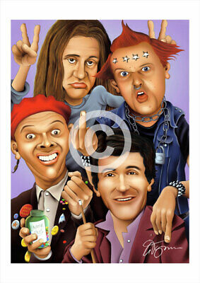 £11.99 • Buy THE YOUNG ONES Artwork Print Caricature A3/A4 Sizes Signed By Artist