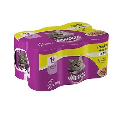 Whiskas Tins In Jelly Poultry Selection 24 X 390g Cat Food • 28.99£