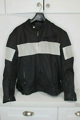 Street & Steel Motorcycle Textile And Mesh Riding Jacket Armored Mens XL • 57.96$
