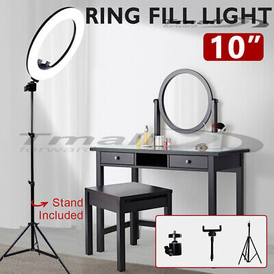 AU46.91 • Buy 10  Diva LED Ring Fill Light With Stand Dimmable 5800K Make Up Lighting Lamp AU