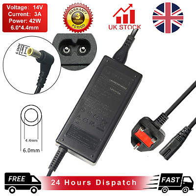 14V 3A AC-DC Adapter Power Supply Charger For Samsung SyncMaster SA100 Monitor • 9.49£