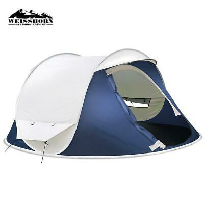 AU59.99 • Buy RETURNs Weisshorn Pop Up Camping Tent 4 Person Family Instant Hiking Beach Tents